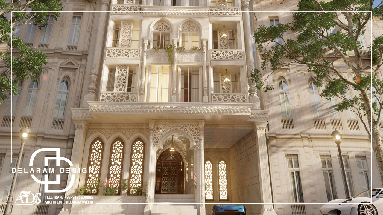 طراحی خارجی آپارتمان کلاسیک در ایران ایرانی 07