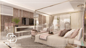 Interior design of the main bedroom 05