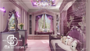 Interior design of girls' bedroom 04