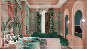 Interior design of girls' bedroom 03