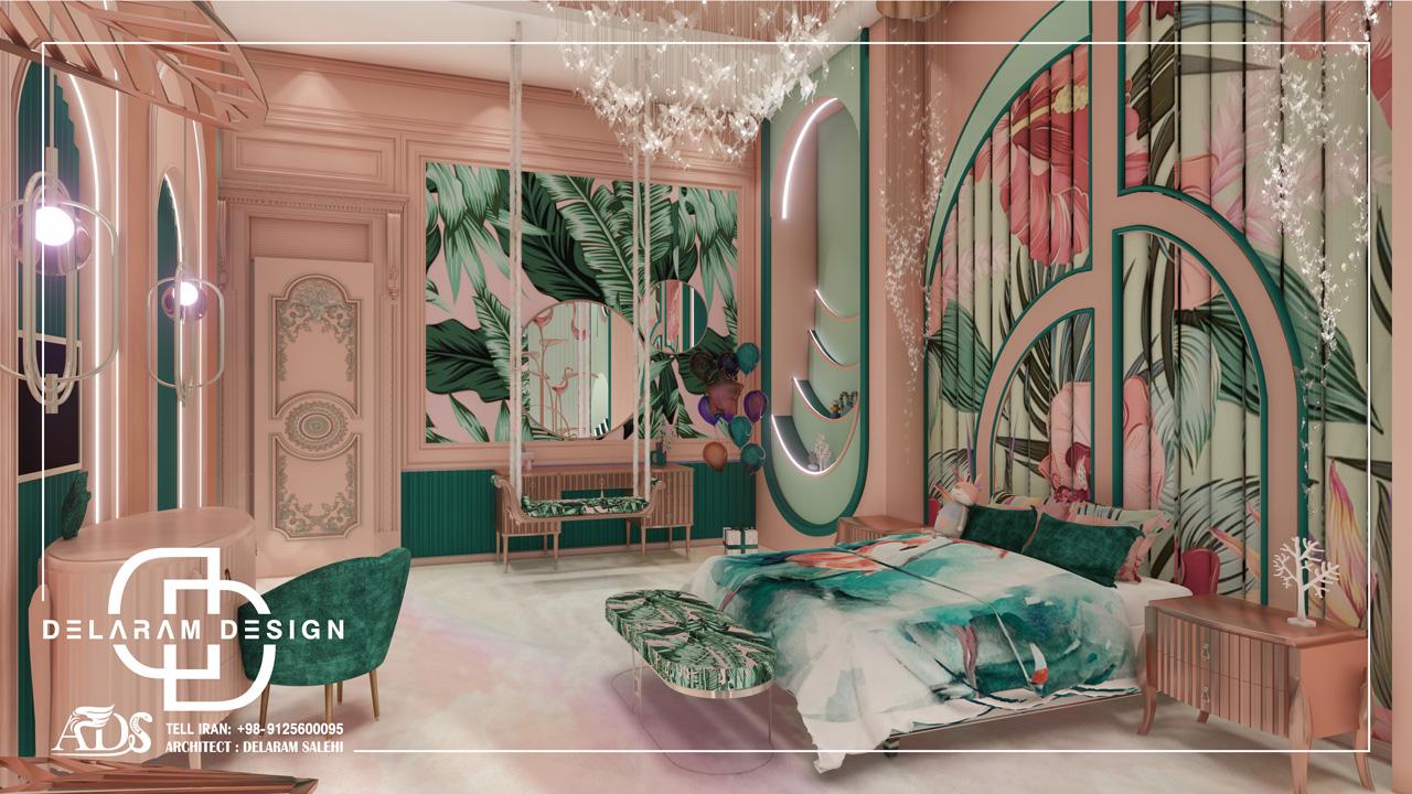 طراحی داخلی اتاق خواب دخترانه در قطر 03