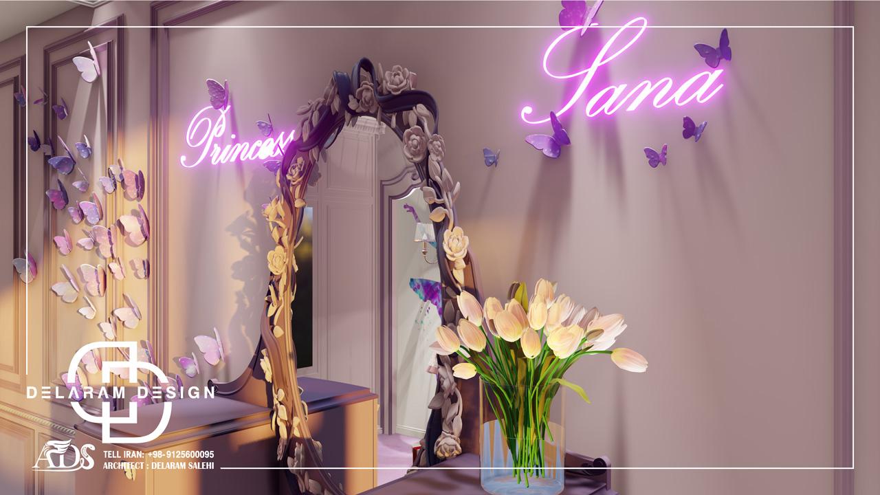 طراحی داخلی اتاق خواب دخترانه ترابی 04