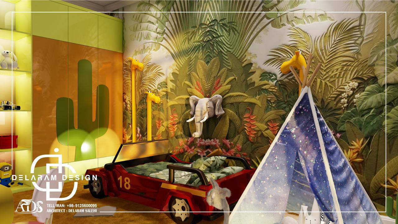 طراحی داخلی اتاق خواب پسرانه 1 فیروزی 02