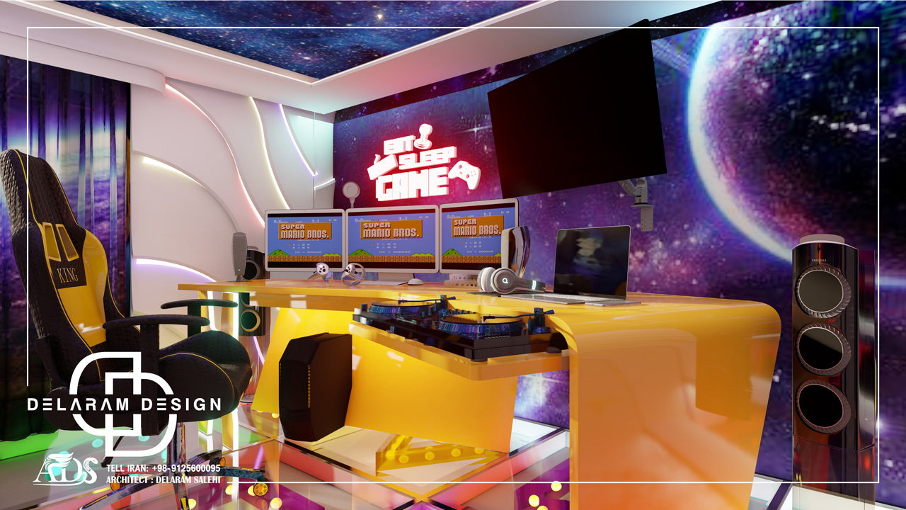 طراحی داخلی اتاق خواب پسرانه در قطر 04