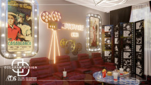Interior design of film and cinema room 01