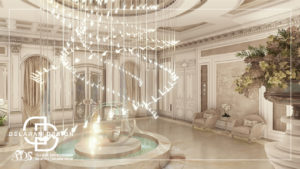 Interior design of the lobby 01
