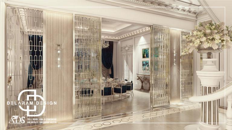 طراحی داخلی اتاق غذاخوری در قطر 02