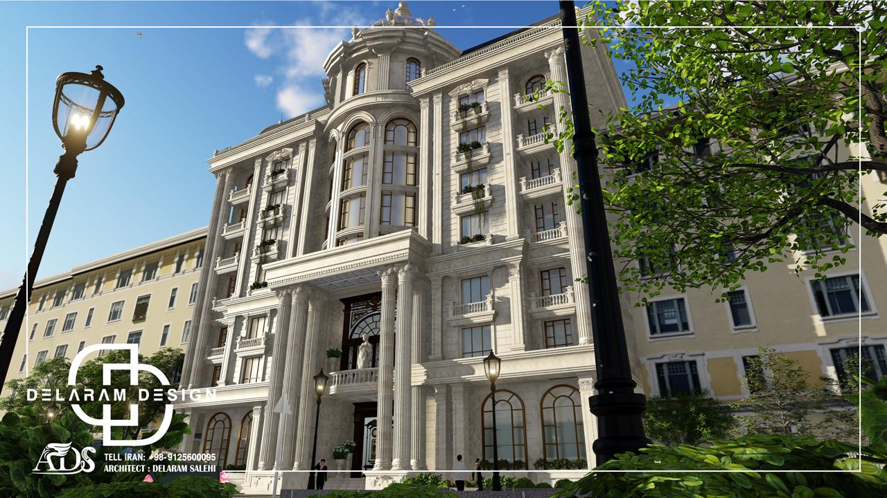 طراحی خارجی آپارتمان کلاسیک در ایران احمدی01