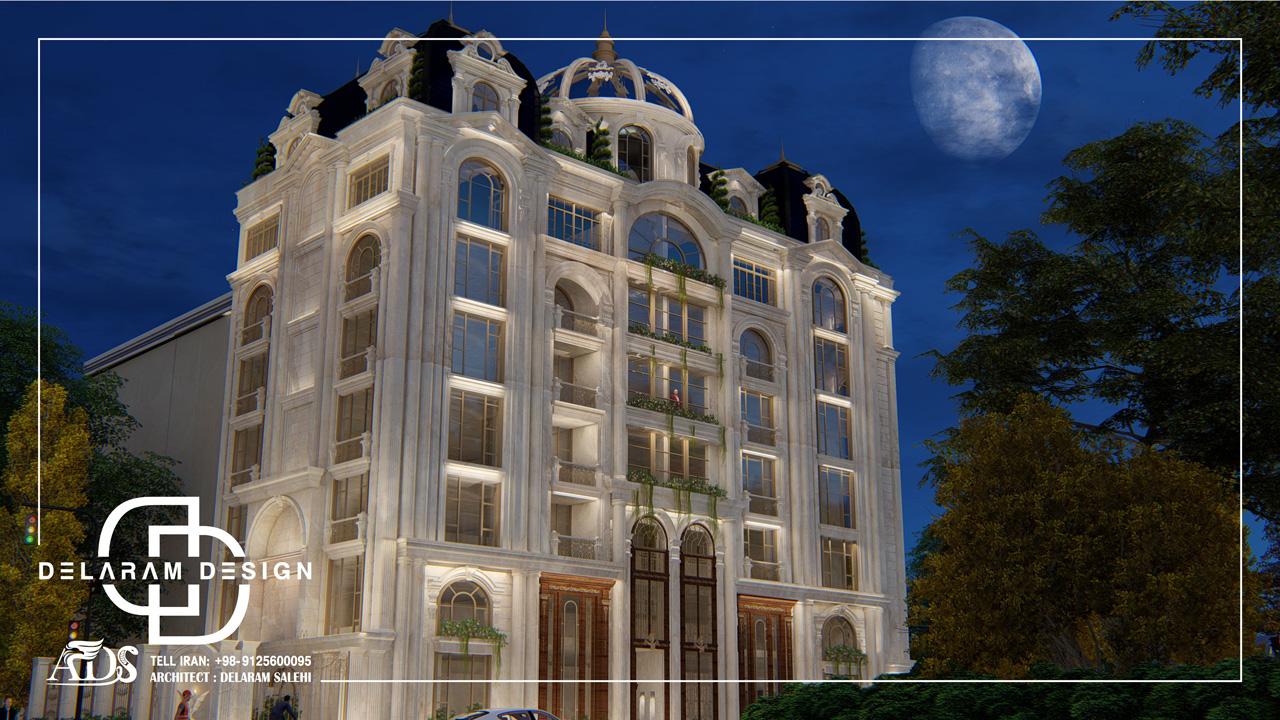 طراحی خارجی آپارتمان کلاسیک در ایران جباری 04