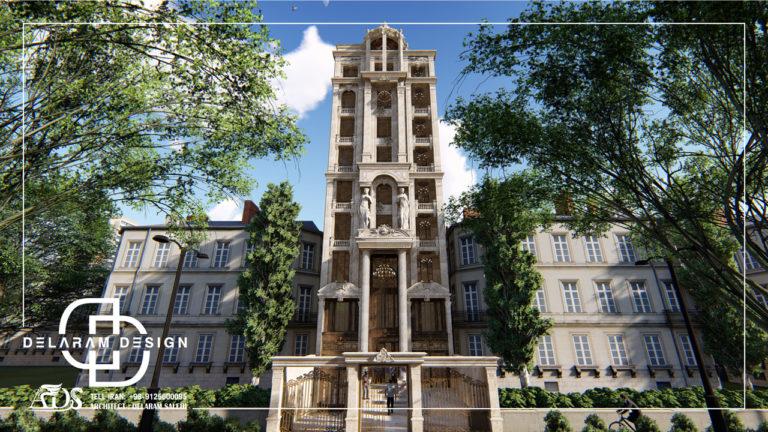 طراحی خارجی آپارتمان کلاسیک در ایران رودهن 03