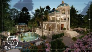 Classic villa exterior design 03