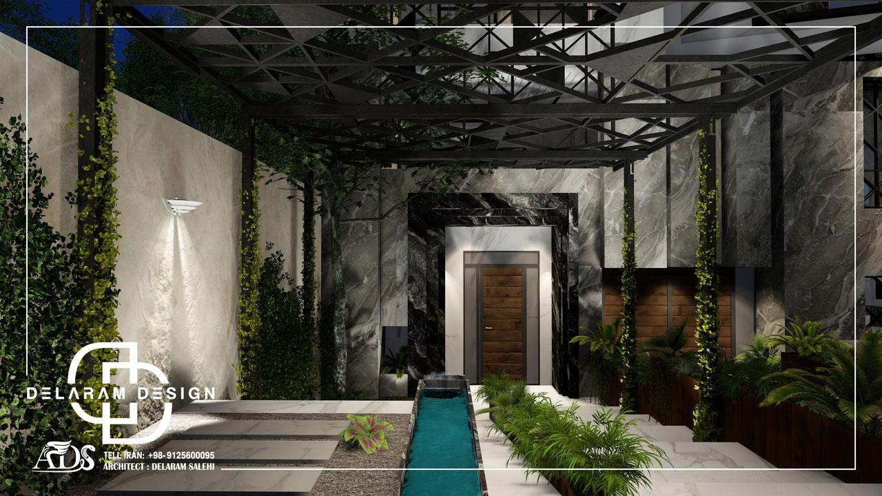 طراحی خارجی آپارتمان مدرن زارعی 01