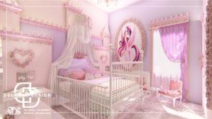 طراحی داخلی اتاق خواب دخترانه 02