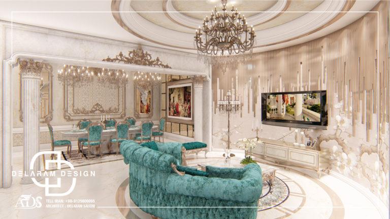 طراحی داخلی اتاق نشیمن و اتاق غذاخوری و اتاق تلویزیون خانکی 03