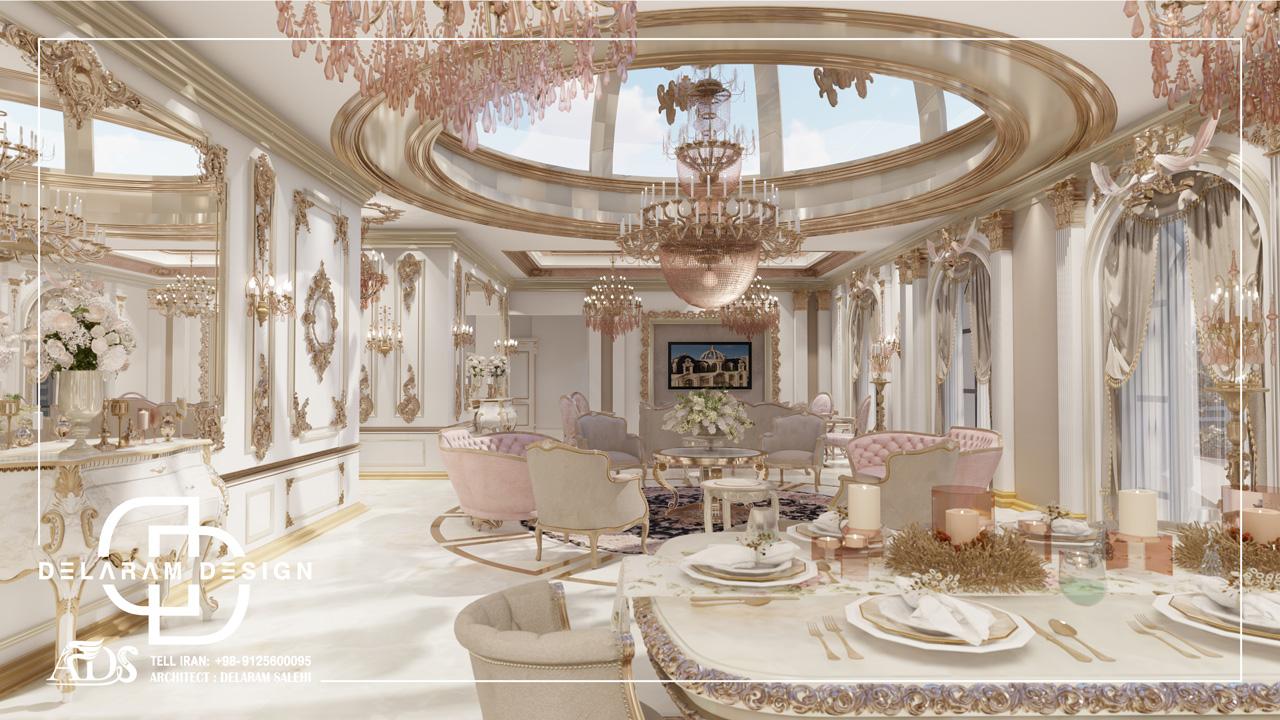 طراحی داخلی اتاق نشیمن و اتاق غذاخوری و اتاق تلویزیون جباری 02