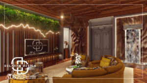Interior design of TV room 01