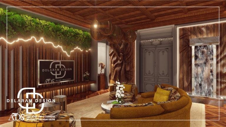 طراحی داخلی اتاق تلویزیون در قطر 01