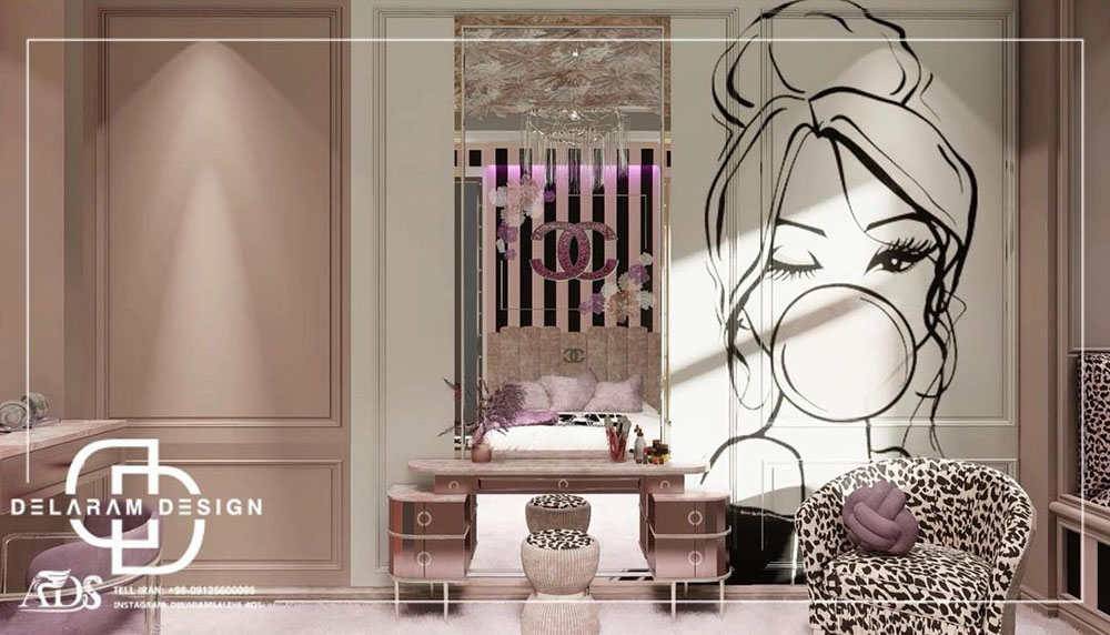 Interior design of a girl's bedroom 02