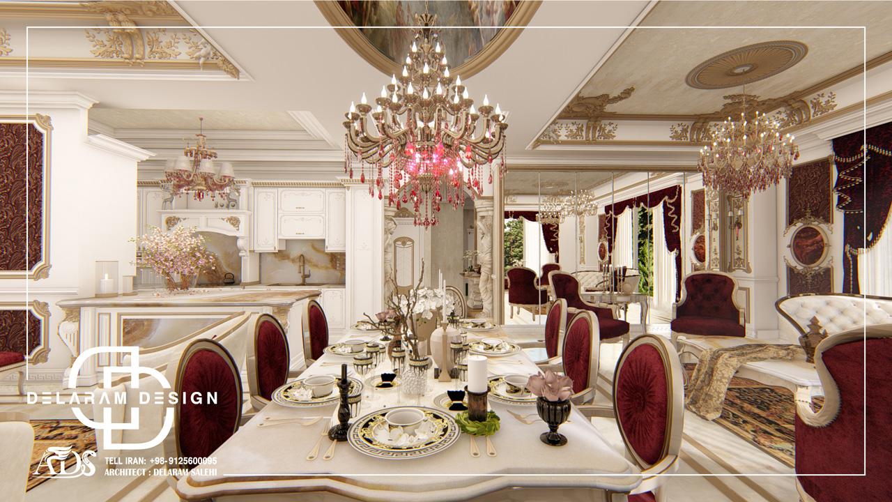 طراحی داخلی اتاق نشیمن و اتاق غذاخوری و اتاق تلویزیون جباری2 07