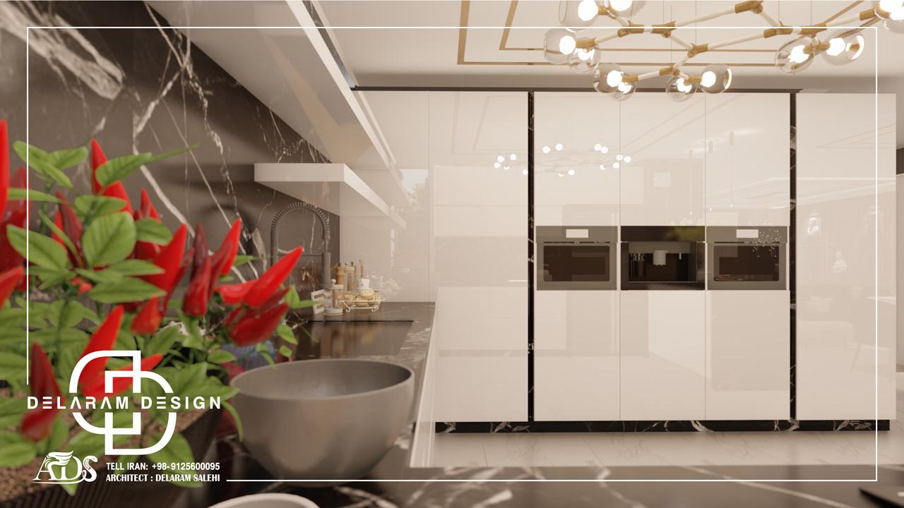 طراحی داخلی اتاق نشیمن و اتاق غذاخوری و اتاق تلویزیون کاملیا 08