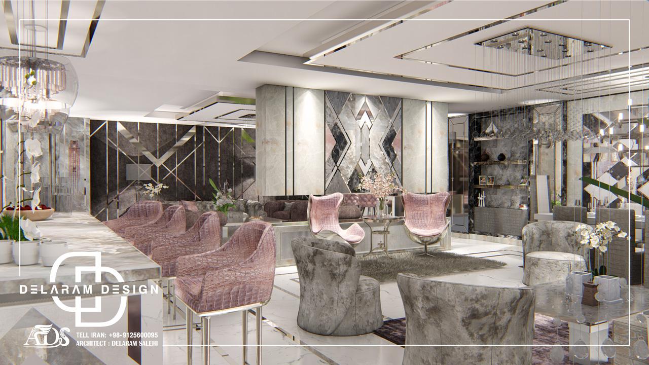 طراحی داخلی اتاق نشیمن و اتاق غذاخوری و اتاق تلویزیون زارعی 14