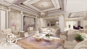 Interior design of living room and dining room and TV room 05