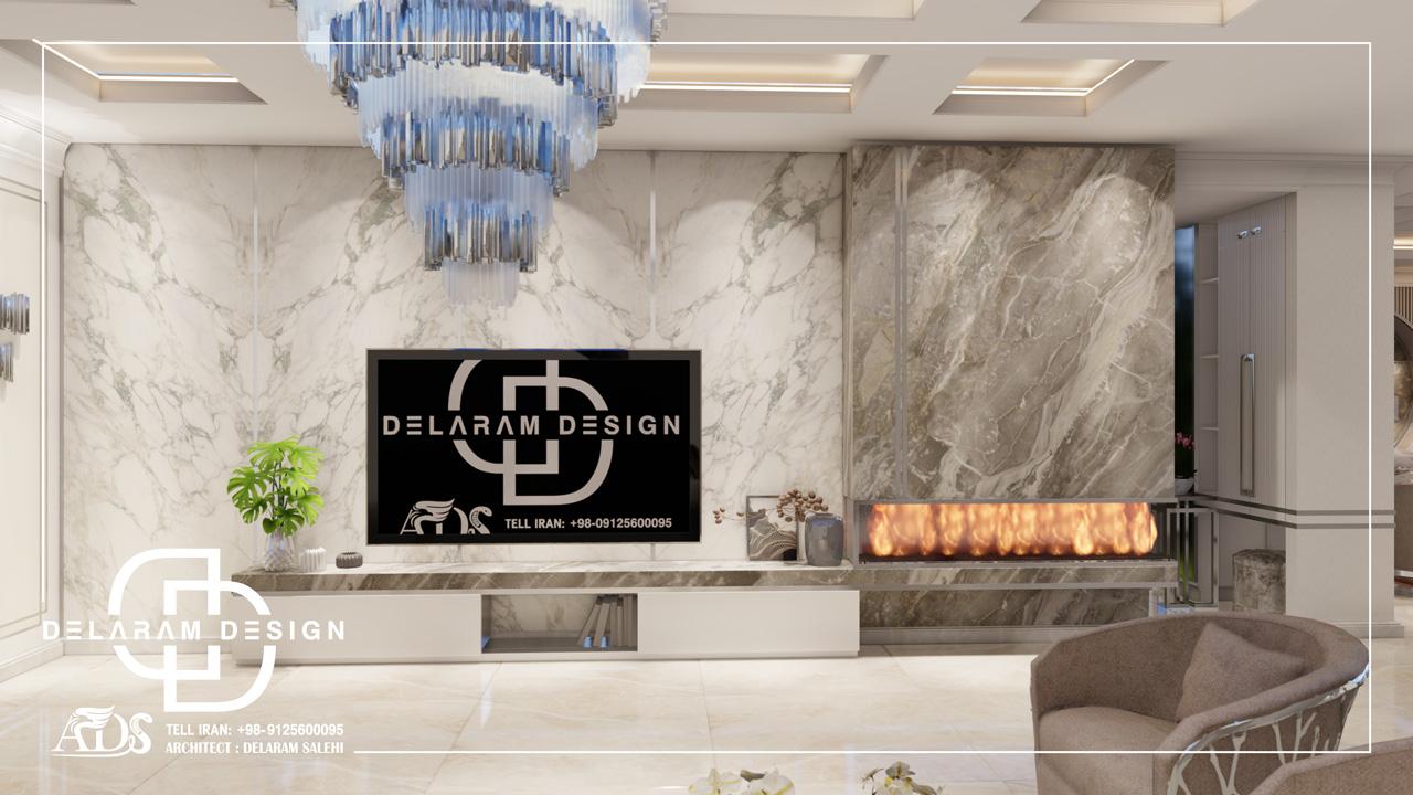 طراحی داخلی اتاق نشیمن و اتاق غذاخوری و اتاق تلویزیون ترابی 06
