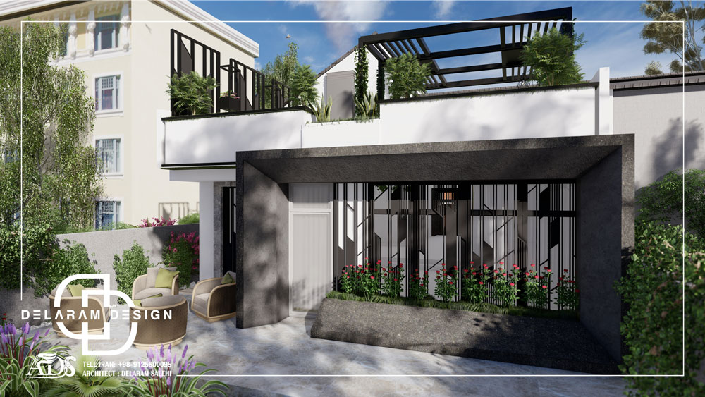 محوطه سازی باغ و ساختمان